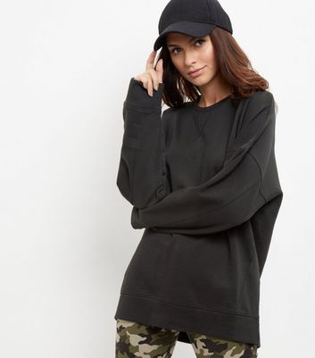Tall Black Balloon Sleeve Sweater