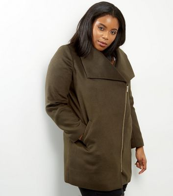 Curves Khaki Military Coat