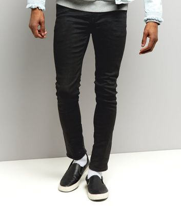 Black Coated Skinny Jeans