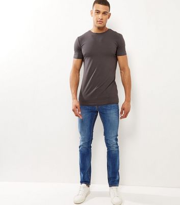 Blue Washed Slim Leg Jeans