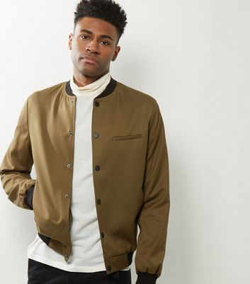 Camel Tailored Bomber Jacket