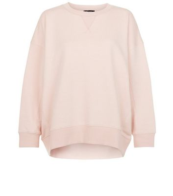 Petite Shell Pink Balloon Sleeve Sweater