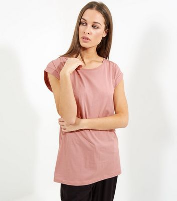 Tall Pink Rolled Sleeve Boyfriend T-shirt