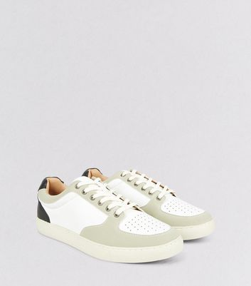 White Contrast Panel Sneakers