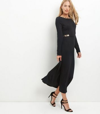 Mela Black Embellished Maxi Dress