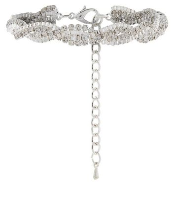 Crystal Diamante Twist Bracelet