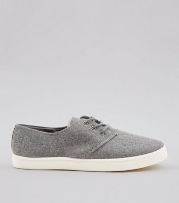 Dark Grey Canvas Plimsolls