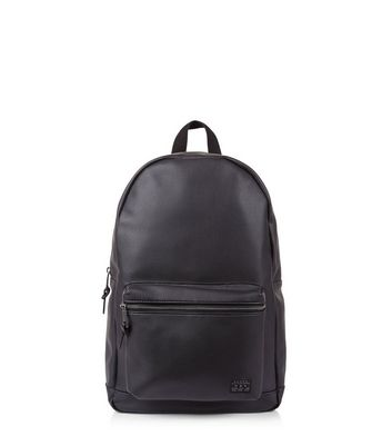 Black Pocket Front Backpack