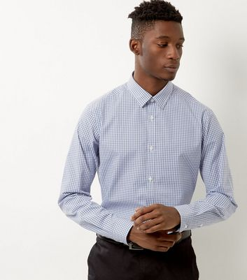 Pale Blue Check Print Shirt