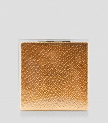 Rose Gold Snakeskin Compact Mirror