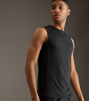 Black Stretch Sports Vest