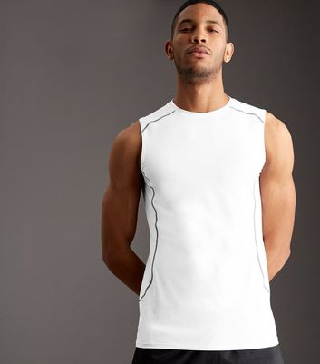 White Stretch Sports Vest