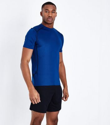 Bright Blue Stretch Short Sleeve Sports T-Shirt