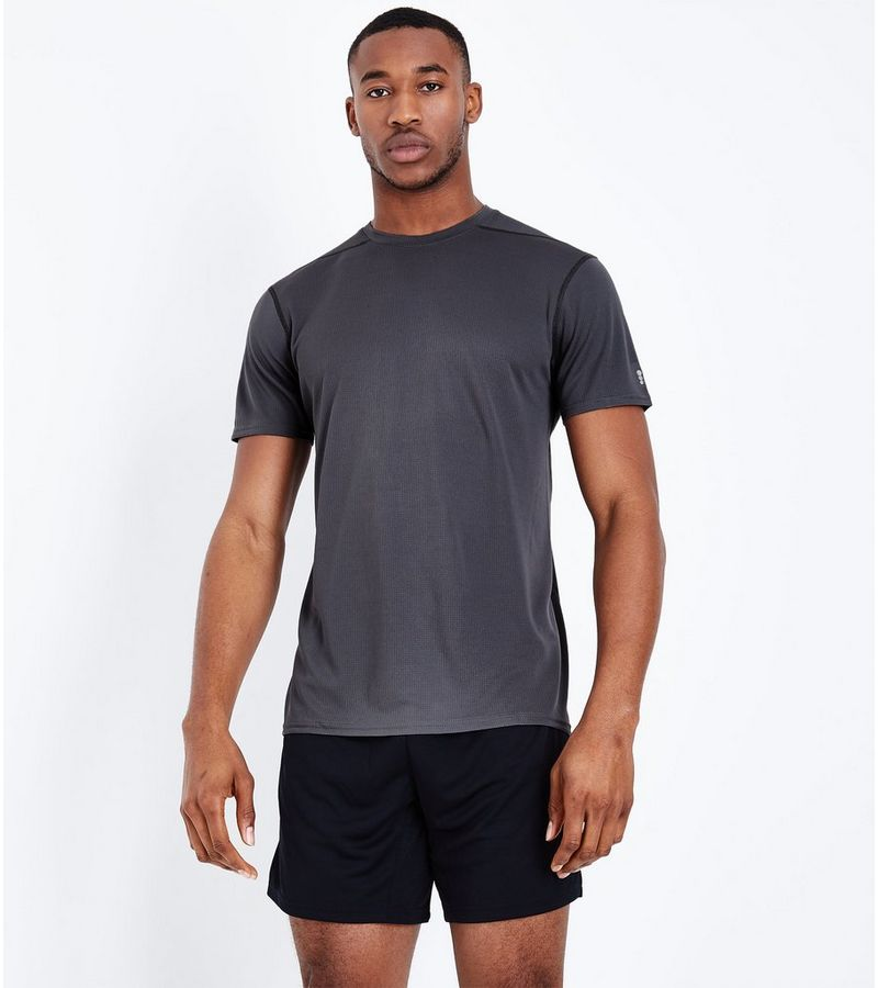 New Look - sport-t-shirt aus netzstoff - 1