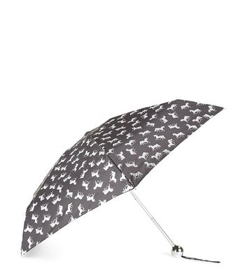 Black Unicorn Print Umbrella