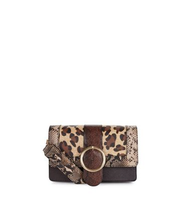 Brown Leopard Print Cross Body Bag