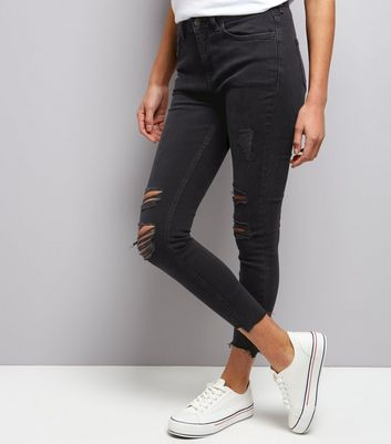 Black Extreme Ripped Skinny Jenna Jeans