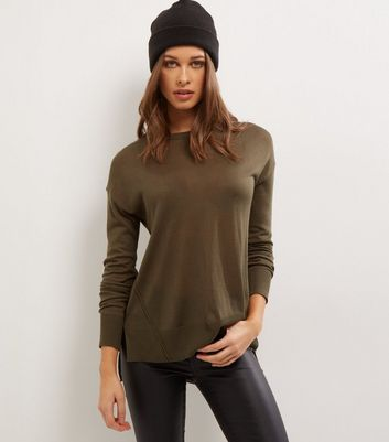 Khaki Long Sleeve Jumper