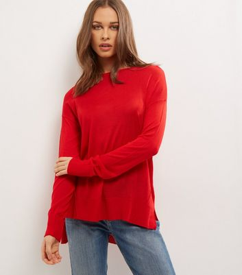 Red Long Sleeve Jumper