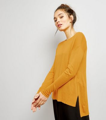 Yellow Seam Trim Jumper