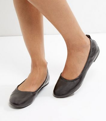 Black Elasticated Pumps