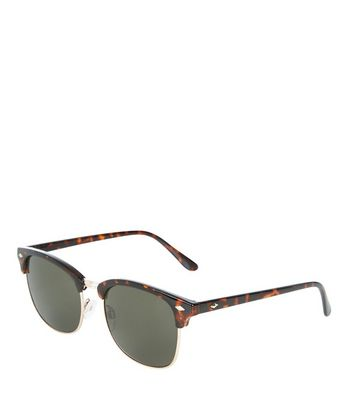 Brown Tortoishell Diamond Detail Sunglasses