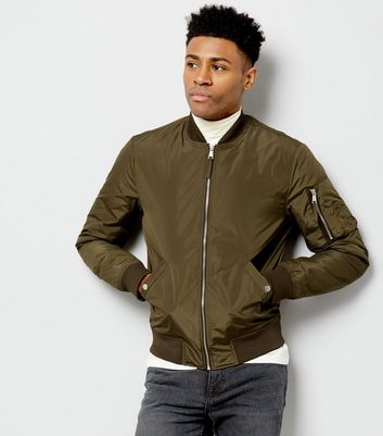 Khaki Pocket Sleeve Bomber Jacket
