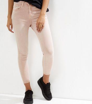 Petite Shell Pink Skinny Jeans