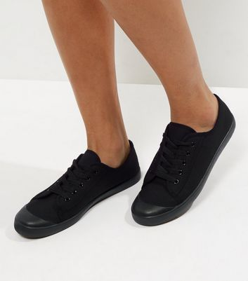 Black Lace Up Trainers