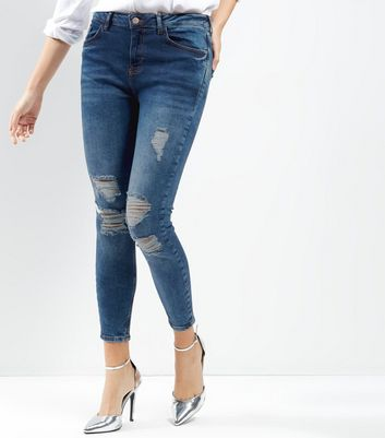 Blue Extreme Ripped Skinny Jenna Jeans