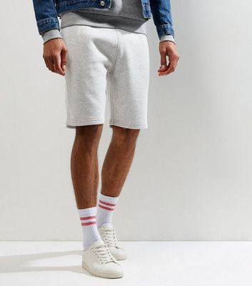 Graue Basic-Shorts aus Jersey