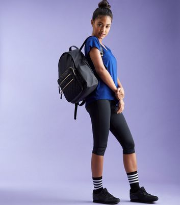 ... New Look - Blue Bar Back Mesh Sports T-Shirt - 2 ...