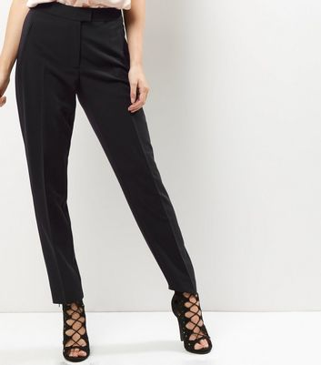 Black Slim Leg Suit Trousers