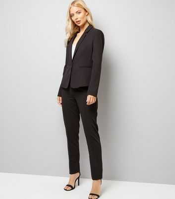 Black Long Slim Leg Trousers