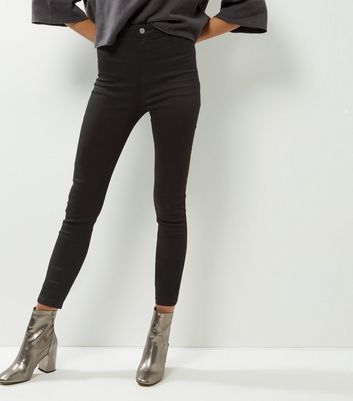 Tall Black High Waisted Super Skinny Jeans