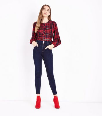Dark Blue High Waist Skinny Yazmin Jeans