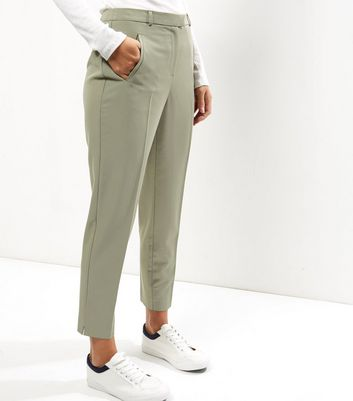 Khaki Slim Leg Trousers