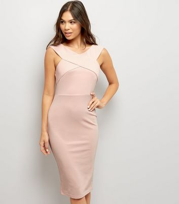 AX Paris Pink Cross Front Midi Dress