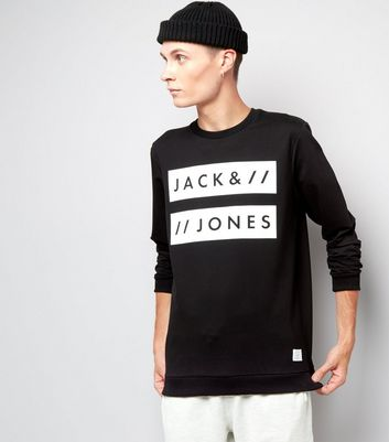 Jack & Jones Black Crew Neck Sweater