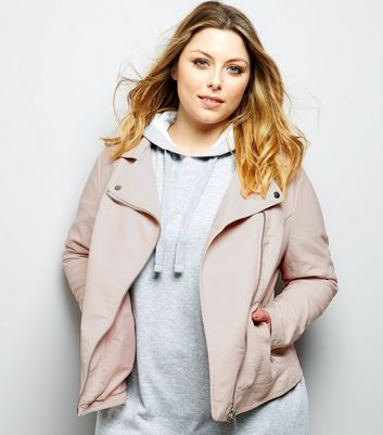 Curves – Rosa Jacke in Leder-Optik