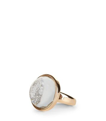 Gold Glitter Dome Ring