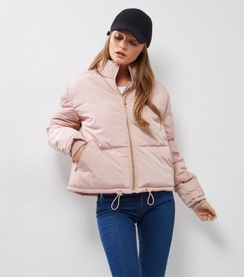 Shell Pink Padded Puffer Jacket