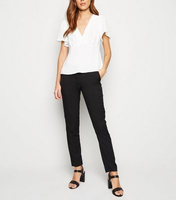 Pantalon slim noir stretch