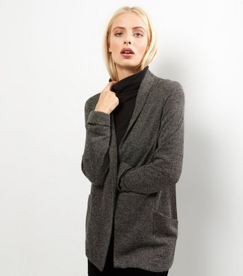 Grey Flecked Jersey Blazer