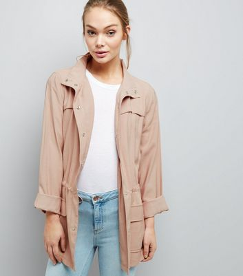 Shell Pink Drape Shacket