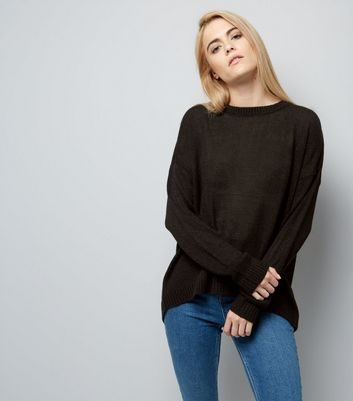 Black Wrap Back Jumper