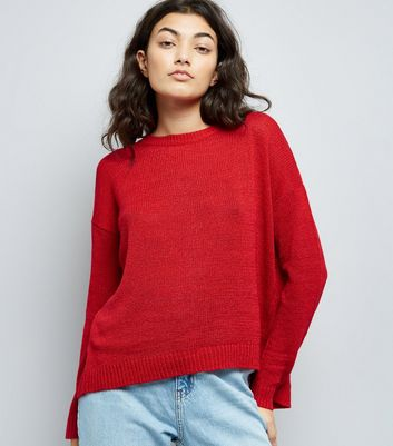 Red Wrap Back Jumper