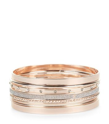 7 Pack Rose Gold Bangles