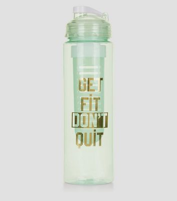 Mint Green Get Fit Don't Quit Infuser Water Bottle
