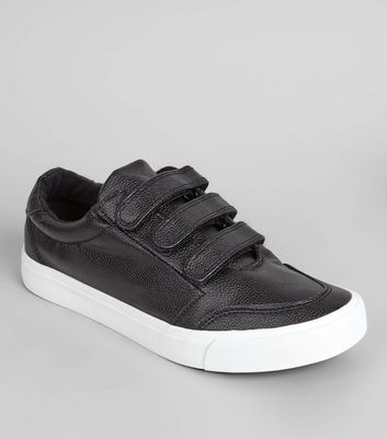 Black Velcro Strap Trainers